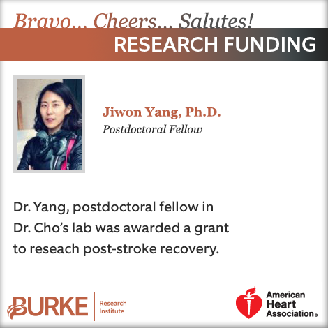 Dr  Yang Awarded Grant from the American Heart Association