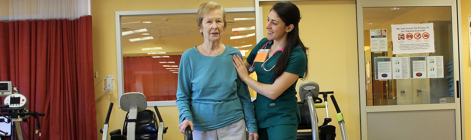 Patient and caregiver in the Comprehensive Inpatient Rehabilitation Program
